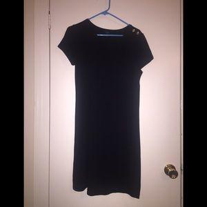Talbots Black T-shirt dress, Size S